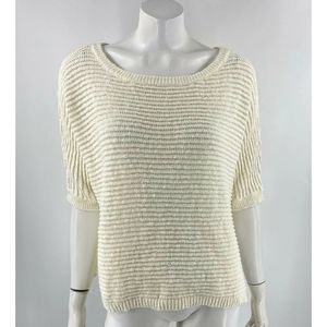 Vince Camuto Sweater Size Medium Cream Ivory NEW